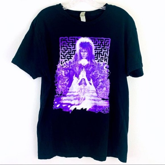 Labyrinth Jim Henson David Bowie Movie Tee Shirt L